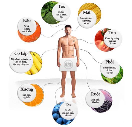 Ăn gì tốt cho từng bộ phận cơ thể