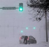 Ảnh bão tuyết Hercules làm người dân Mỹ điêu đứng