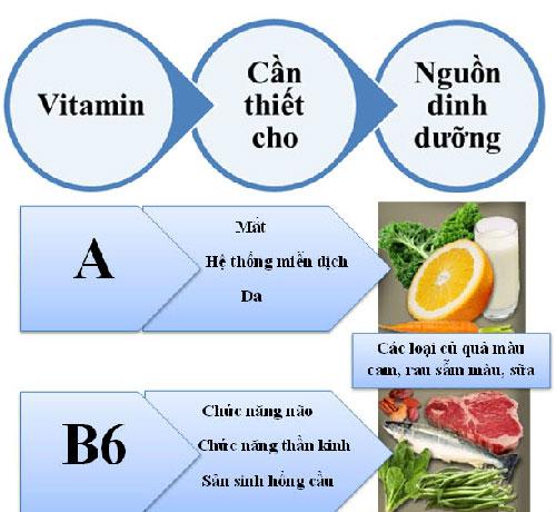 Những vitamin không thể thiếu cho cơ thể