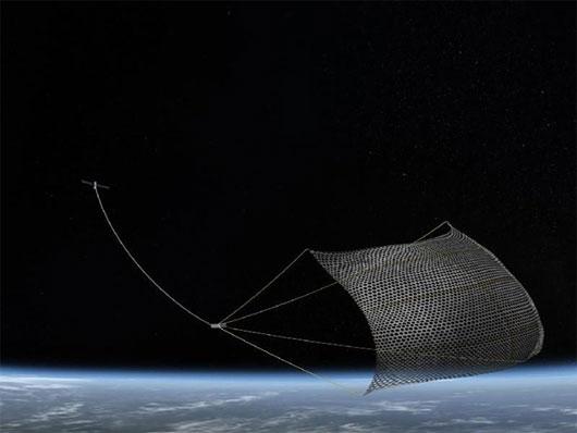 Nhật chế tạo lưới dọn rác trong không gian