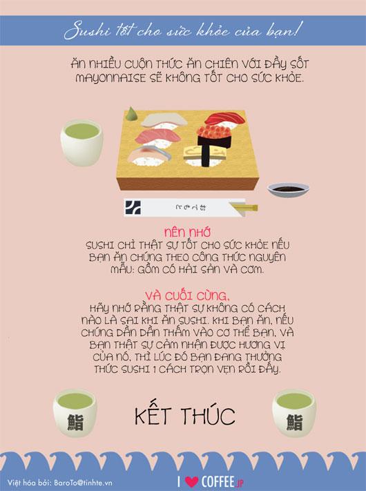 8 điều cần biết khi ăn sushi