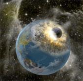 Video mô phỏng cảnh thiên thạch lao trúng địa cầu