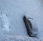 Tuyết đen kỳ lạ ở Siberia
