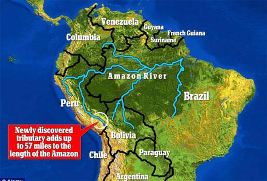 Hệ thống sông Amazon khởi nguồn từ Peru