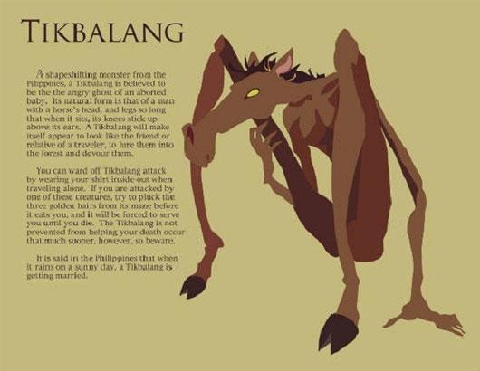 Tikbalang là một sinh vật thần thoại trong văn hóa dân gian Philippines