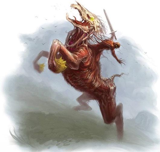 Nuckelavee có tới ba đầu, hai đầu ngựa và một cái đầu của con người