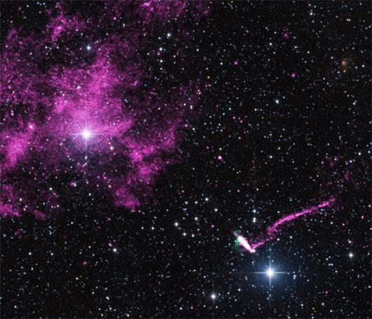 NASA chụp được hình ảnh về luồng hạt dài nhất phát ra từ sao neutron
