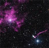 Hình ảnh về luồng hạt dài nhất phát ra từ sao neutron