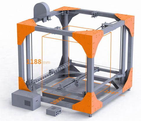 Máy in 3D in được đồ nội thất