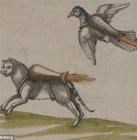 """Con người đeo vũ khí vào thú cưng để làm """"bom cảm tử"""" từ thế kỷ 16"""