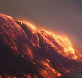 Cảnh ngoạn mục của mỏ than cháy suốt 3 tuần
