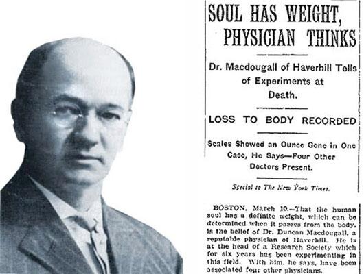 Linh hồn con người nặng 21 gram?