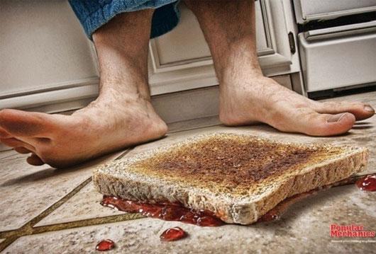 Quy tắc cần biết khi nhặt đồ ăn rơi dưới đất