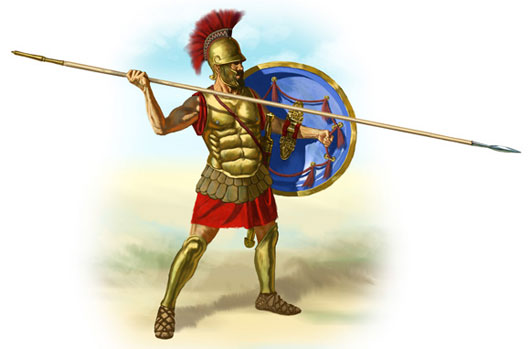 Sự hùng mạnh của đội quân Hoplite nằm ở sự huấn luyện kỷ luật nghiêm ngặt