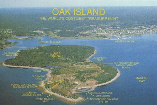 Vị trí của đảo Oak