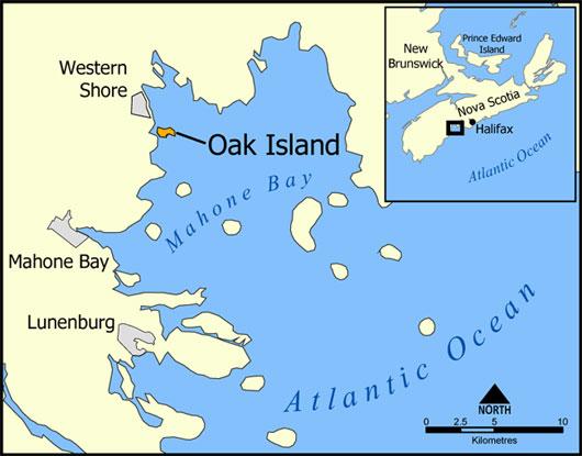Đảo Oak nằm ở vịnh Mahone thuộc bờ biển phía Nam Canada
