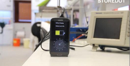 Video: Sạc đầy smartphone chỉ trong 30 giây
