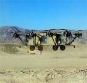 Máy bay không người lái kết hợp phương tiện chở hàng