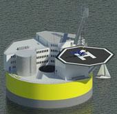 Ý tưởng nhà máy hạt nhân trên biển, chịu được sóng thần