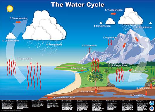 Vòng tuần hoàn của nước.