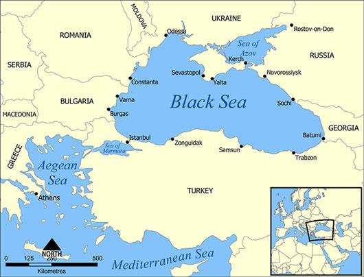 Biển Đen - Nơi có độ mặn nước biển bậc nhất thế giới