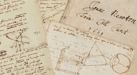 Bút tích của Newton còn lưu giữ đến ngày nay