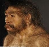 Cận cảnh hình ảnh mô phỏng con người thời nguyên thủy