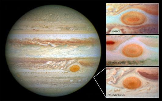 Siêu bão trên sao Thổ ngày càng thu hẹp