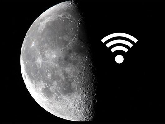 Biến mặt trăng thành thiết bị Wi-Fi