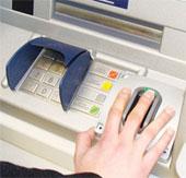 Rút tiền ATM bằng một ngón tay