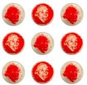 Tranh chân dung vẽ từ vi khuẩn gây bệnh