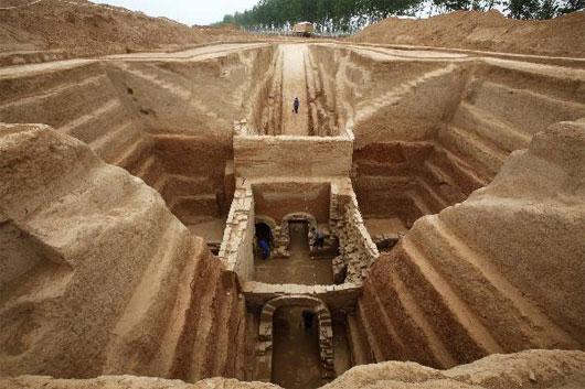 Phát hiện mộ cổ gần 2000 năm ở Trung Quốc