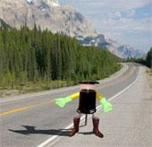 Robot tự đi khắp Canada