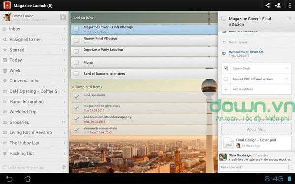 Phần mềm quản lý công việc hiệu quả trên Android