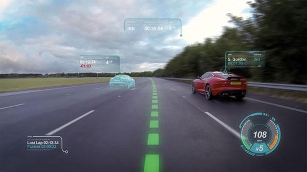 """Jaguar Land Rover sẽ tích hợp """"màn hình ảo"""" lên kính gió xe hơi"""