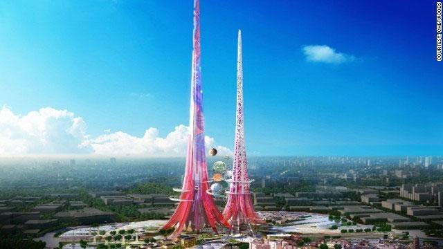 Tháp đôi cao nhất thế giới giúp làm sạch không khí