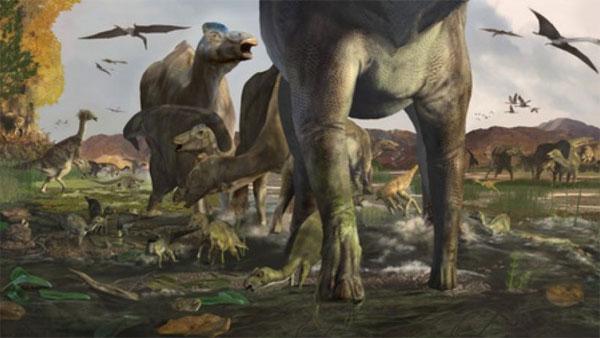 Phát hiện dấu chân khủng long 70 triệu năm tuổi