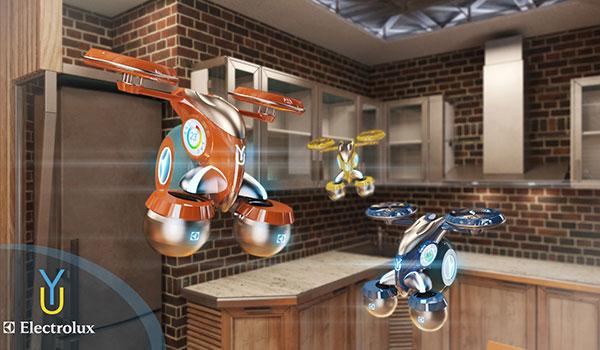 Robot bay làm bartender