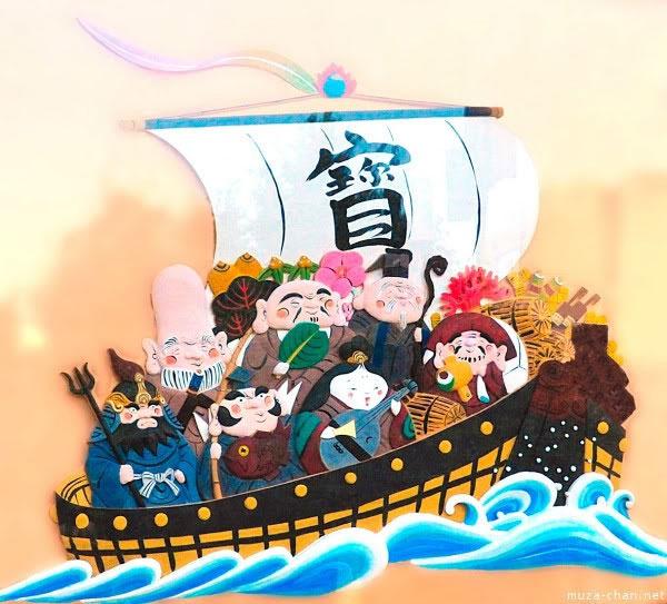 """Biểu tượng may mắn của số 7 trong văn hóa Nhật là """"7 vị thần"""