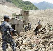 Sụt lở đất tại Nepal làm 8 người chết, 200 người mất tích