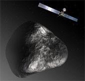 Tàu vũ trụ châu Âu tiếp cận sao chổi hình vịt