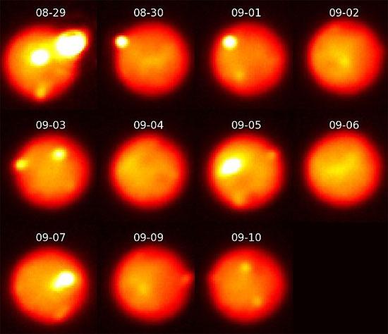 Vụ phun trào núi lửa rực rỡ nhất trong hệ Mặt Trời