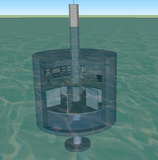 """Khai thác năng lượng sóng biển với """"nhà nổi ống"""""""