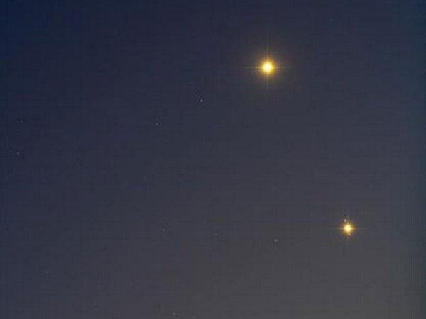 Xuất hiện hiện tượng Sao Kim và sao Mộc gặp nhau trước bình minh