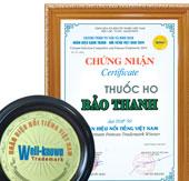 Nhãn hiệu nổi tiếng 2014 có sự góp mặt của thuốc ho đông dược Bảo Thanh