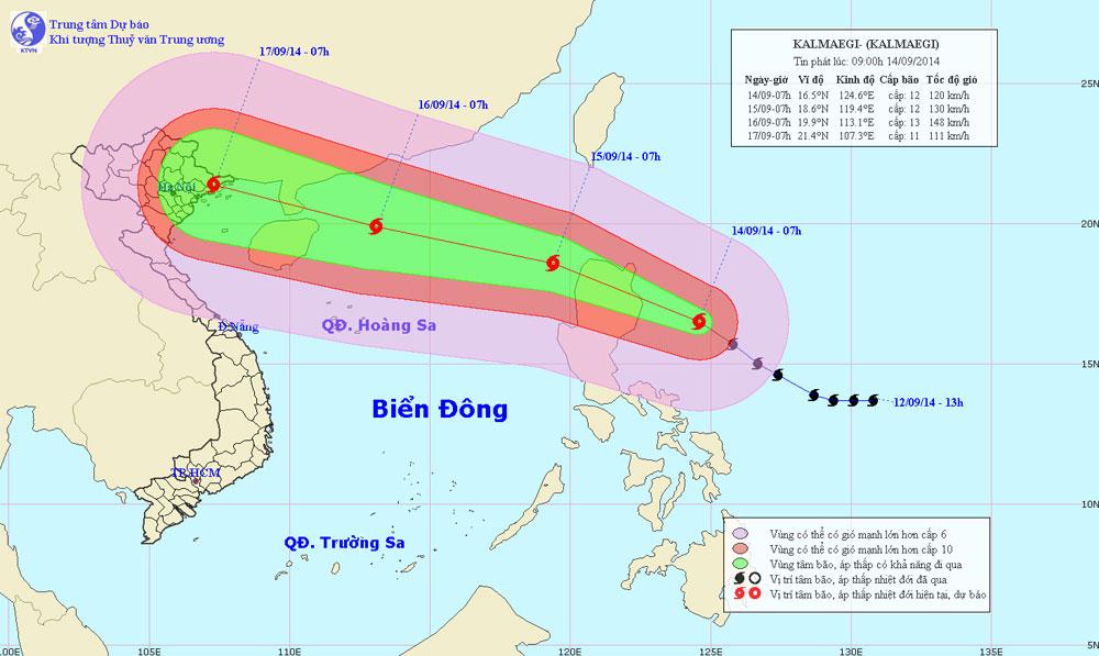 Bão Kalmaegi tăng tốc, tiến nhanh vào Biển Đông