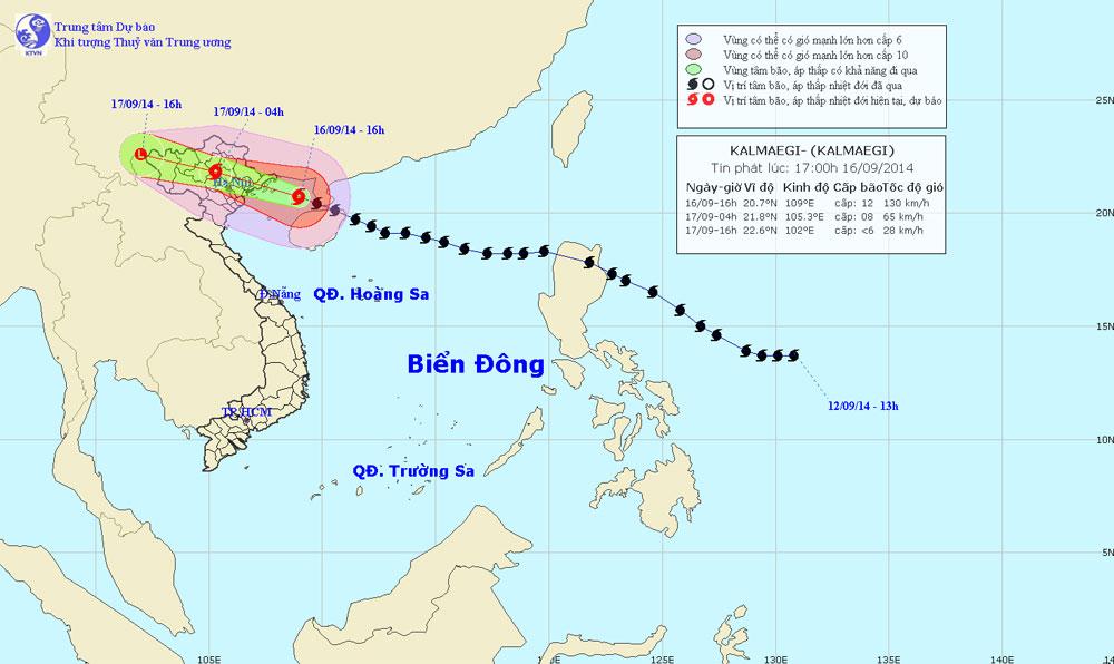 Bão Kalmaegi gây gió giật mạnh cấp 12 tại đảo Bạch Long Vĩ