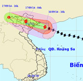Trực tiếp -  Bão Kalmaegi tiếp cận Quảng Ninh - Hải Phòng