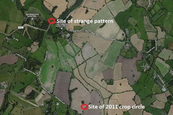 Vòng tròn bí ẩn xuất hiện ở Anh