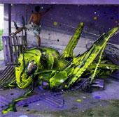 Street art: Ý tưởng tái sử dụng rác thú vị